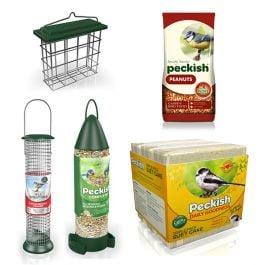 Peckish Bird Food and Feeder Starter Kit