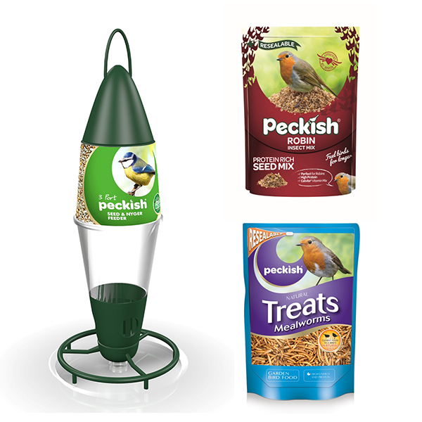Peckish Robin Bird Food Kit
