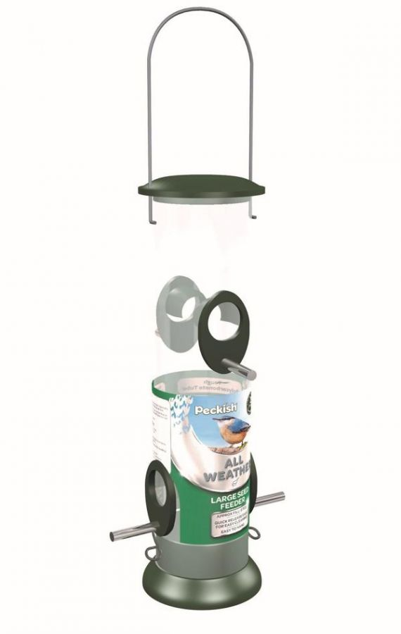 Peckish All Weather Large Seed Feeder for Wild Birds