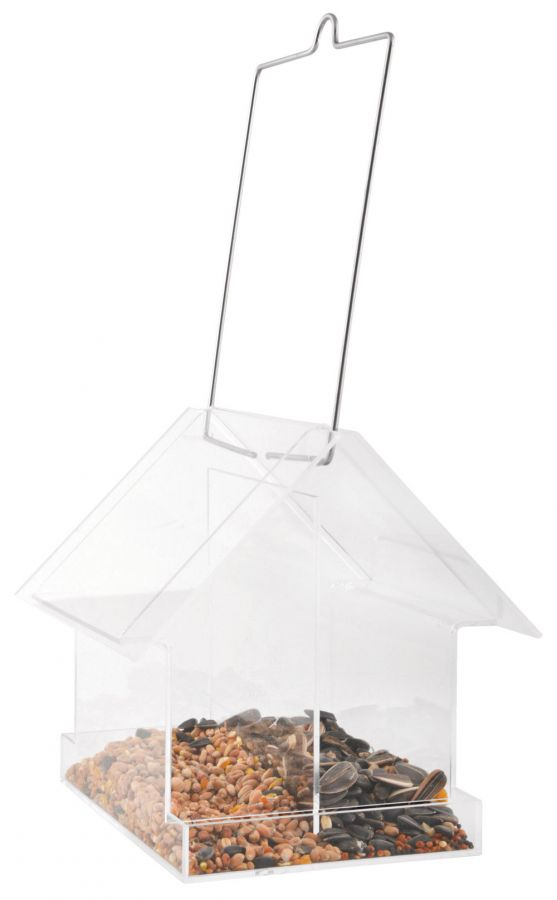 Hanging Acrylic Bird Feeder House - 15cm (5.9in)