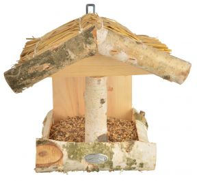 Silver Birch Wall Bird Feeder - 27cm (10in)