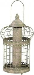 Squirrel Proof Bird Seed Feeder, Green Aged Metal - 36cm (1ft 2in)