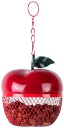 Apple Shaped Peanut Bird Feeder - 14.5cm (6in)
