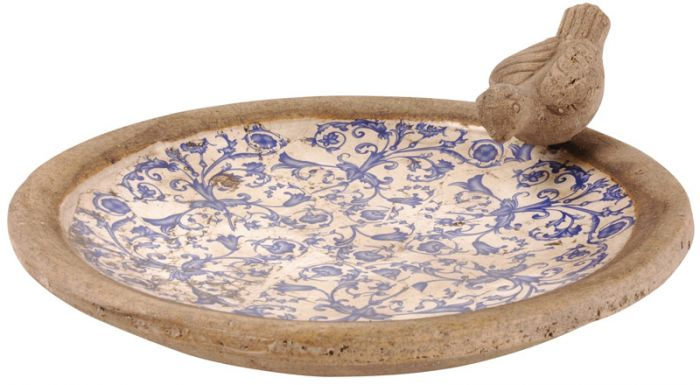 Ceramic Bird Bath - 33.5cm (1ft 1in)