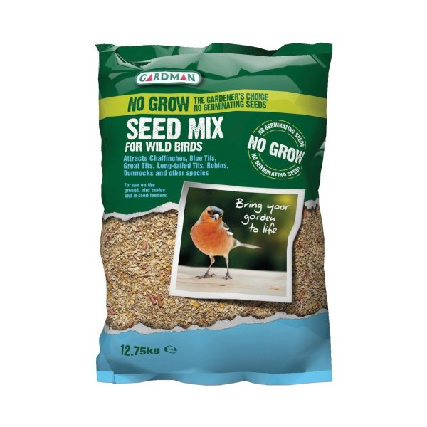 Gardman No Grow Bird Seed Mix - 25.5kg (2 x 12.75kg)