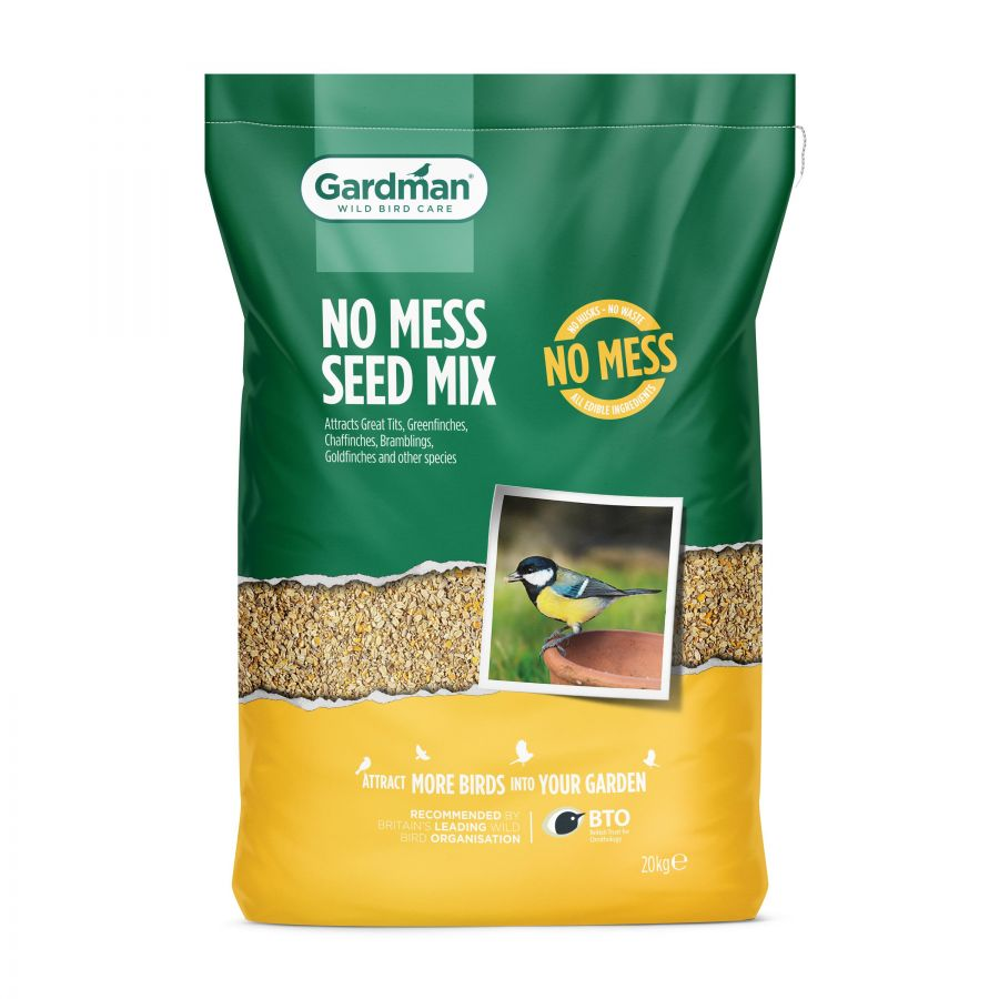 No Mess Seed Mix for Wild Birds by Gardman - 20kg