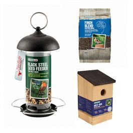 Gardman Finch Nest Box and Bird Feed Kit