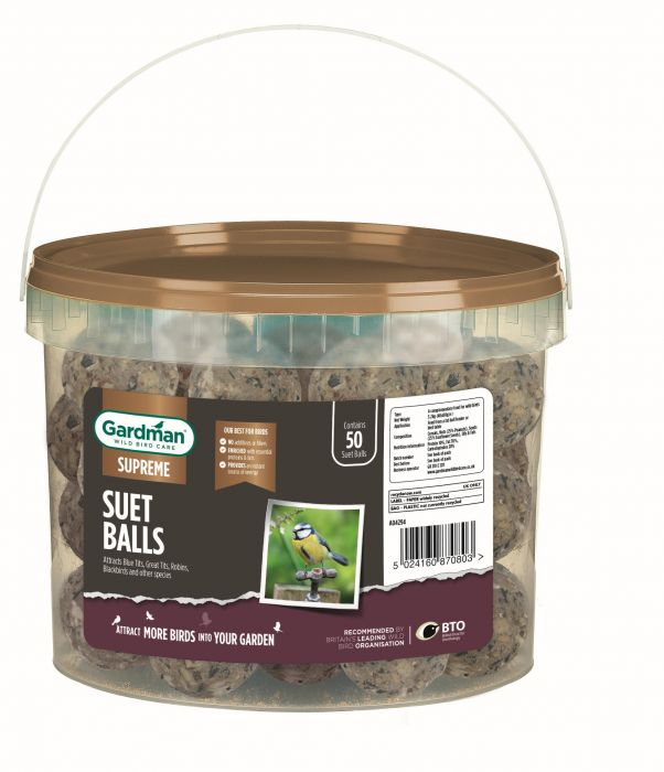 Suet Ball Bird Feed by Gardman - Tub of 50