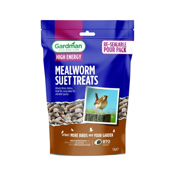 Large Mealworm Suet Treats for Wild Birds by Gardman - 1.1kg