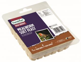Mealworm Suet Feast Block for Wild Birds by Gardman