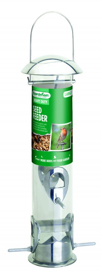 Large Heavy Duty Seed Feeder for Wild Birds by Gardman