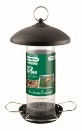 Large Black Steel Seed Feeder for Wild Birds by Gardman