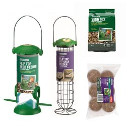 Gardman Bird Food And Feeder Starter Kit