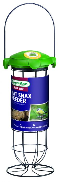 Flip Top Fat Snax Feeder for Wild Birds by Gardman