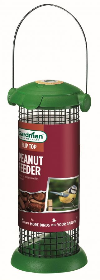 Flip Top Peanut Feeder for Wild Birds by Gardman