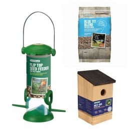 Gardman Blue Tit Nest Box and Bird Feed Kit