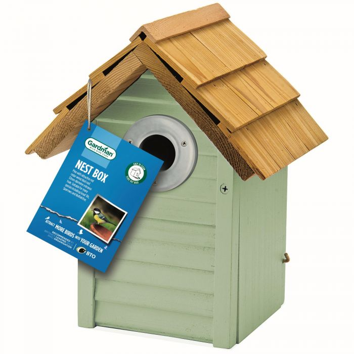 Beach Hut Nest Box by Gardman - Sage Green