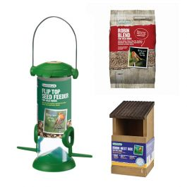 Gardman Robin Nest Box and Bird Feed Kit