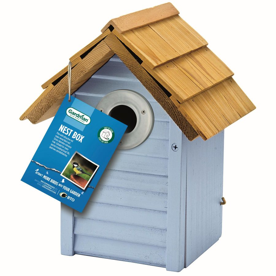 Beach Hut Nest Box by Gardman - Blue