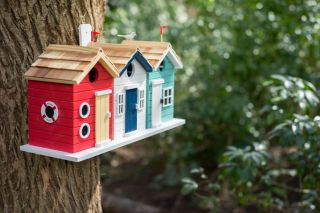 3-in-1 Beach Hut Bird House