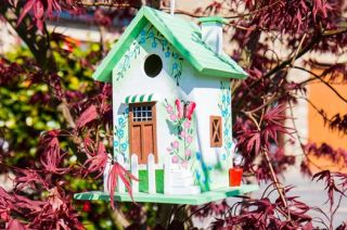 Butterfly Cottage Bird House