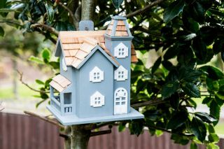 Little Manor Bird House - Blue