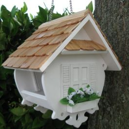 Little Wren Bird Feeder - White
