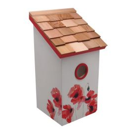 Salt Box Bird House - Poppy