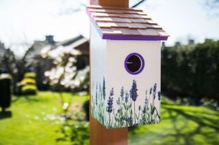 Saltbox Bird House - Lavender