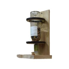 Wine Bottle Recycling Bird Feeder