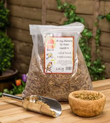 1kg Dried Mealworms Premium Wild Bird Feed by Red Barn