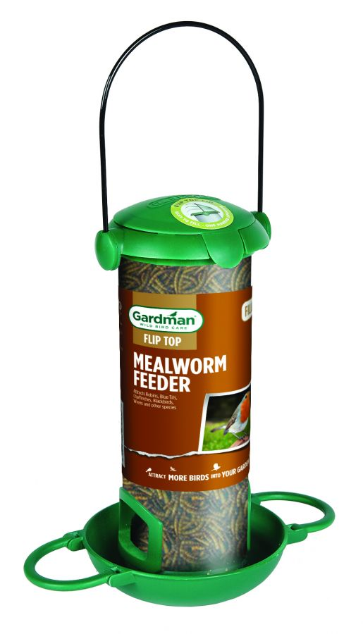 Filled Flip Top Mealworm Bird Feeder by Gardman