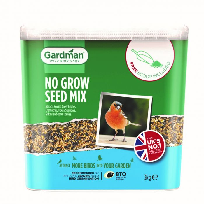 No Grow Seed Bird Feed by Gardman - 3Kg Tub