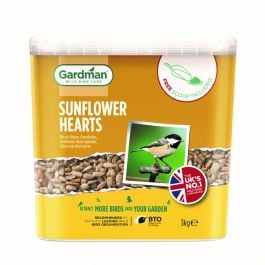 Sunflower Hearts Bird Feed by Gardman - 3kg Tub