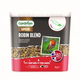 Robin Blend Bird Feed by Gardman - 3kg Tub
