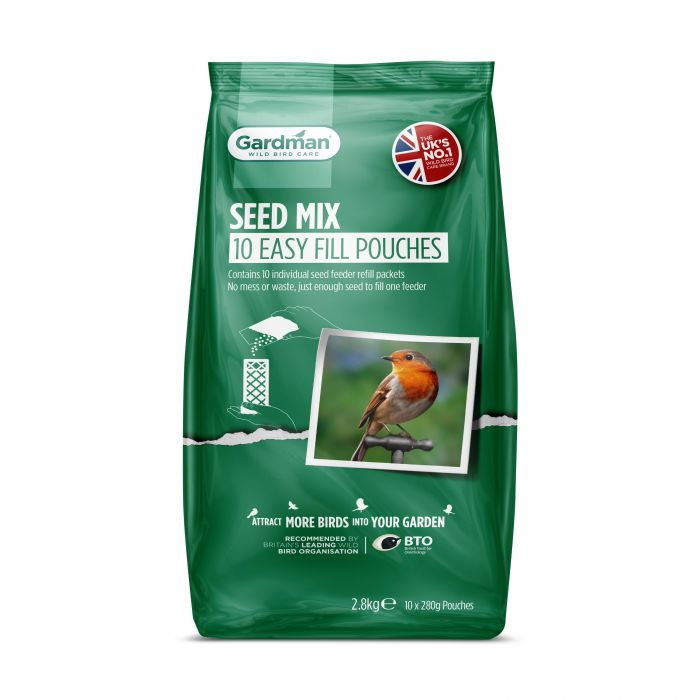 Standard Seed Mix Easy Fill Pouches for Wild Birds by Gardman