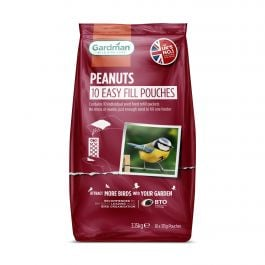 Whole Peanuts Easy Fill Pouches for Wild Birds by Gardman