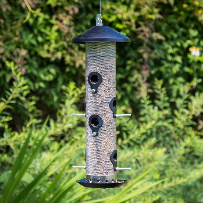 Extra-Strong Black Steel Giant Seed Bird Feeder