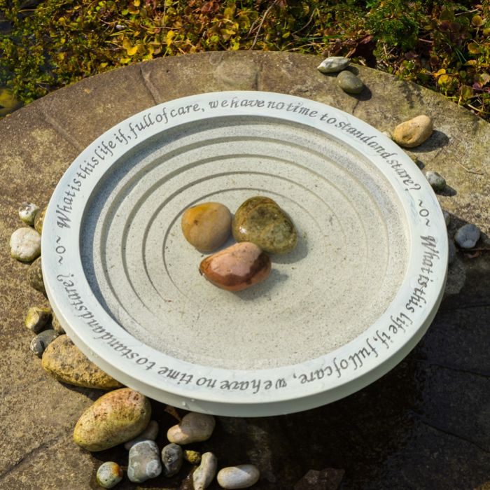 W45cm Shenstone Theatre Inscribed Bird Bath