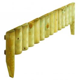 Pack of 4 Natural Log Border Fence 23cm x 1m