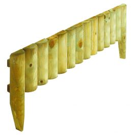 Pack of 2 Natural Log Border Fence 23cm x 1m