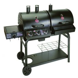 Duo Gas and Charcoal BBQ with Side Burner by Char-Griller
