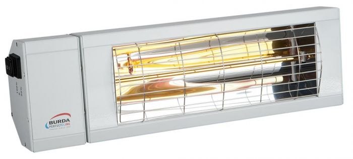 2kw White Infrared Heater with Switch and Low Glare by Burda™
