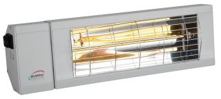 1.5kw Silver Infrared Heater with Switch and Low Glare by Burda™