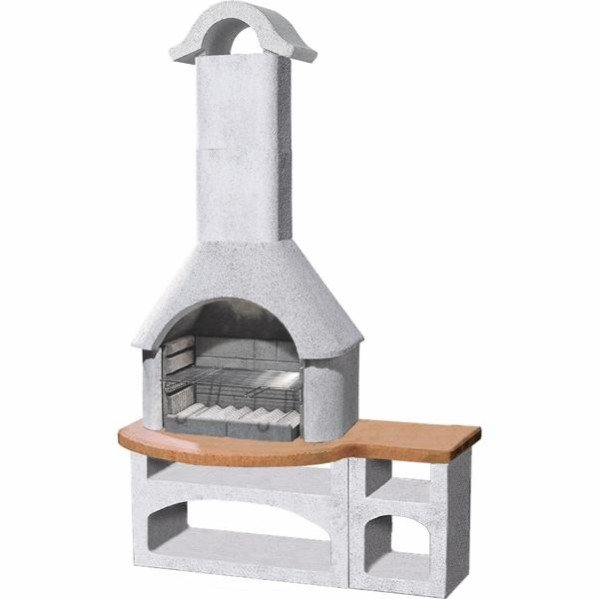 Buschbeck Bozan barbecue fireplace with combined side table