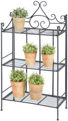 Outdoor Cast Iron Triple Tier Etagere - 114cm