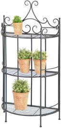 Outdoor Triple Tier Cast Iron Circular Etagere - 114cm