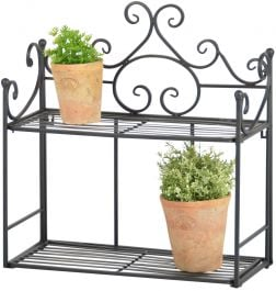 Outdoor Wall Hanging Cast Iron Etegere - 47.6cm