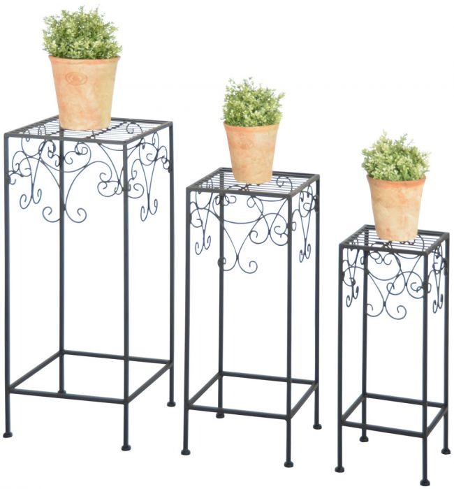 Outside Cast Iron Plant Stands (Set of 3) - Large 70cm