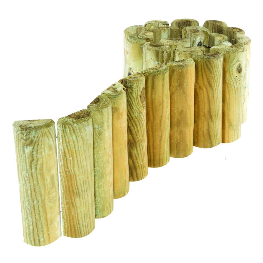 Pack of 2 Natural Log Border Rolls 23cm x 1.8m